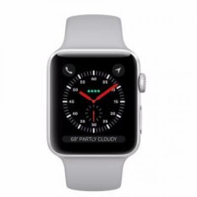 Apple Watch Series 3 42mm Silver Aluminum Case with Fog Sport Band (GPS) MQL02