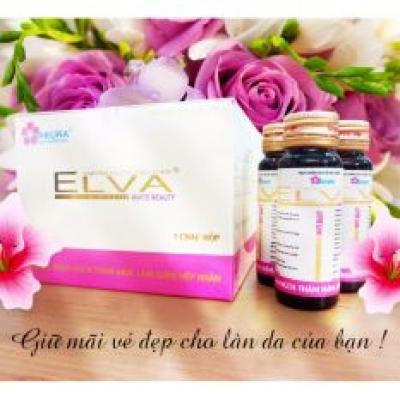 Nước uống dưỡng sáng da Sakura ELVA Gluta Collagen + Quà tặng