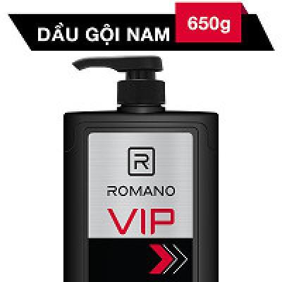 Dầu Gội Cao Cấp Cho Nam Romano VIP 650g